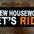 Screw House Work Let's Ride Small Badge for Biker Vest Jacket Motorcycle Patch