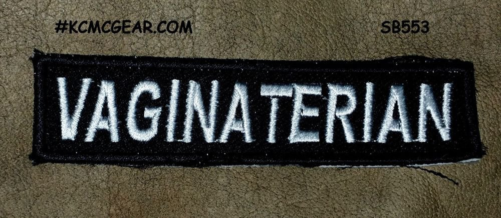 VAGINATERIAN Small Badge for Biker Vest Jacket Motorcycle Patch
