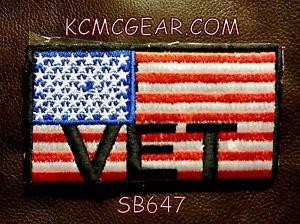 USA FLAG VET Small Badge for Biker Vest Jacket Motorcycle Patch