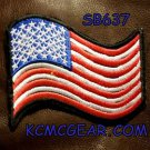 USA FLAG WAVING Small Badge for Biker Vest Motorcycle Patch
