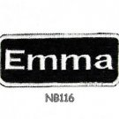 EMMA Name Tag Patch Iron or sew on for Shirt Jacket Vest New BIKER Patches