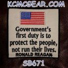 GOVERNMENT'S FIRST DUTY Small Badge for Biker Vest Jacket Motorcycle Patch