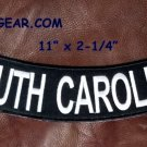 "SOUTH CAROLINA White on Black Back Patch Bottom Rocker for Biker Veteran Vest10"""