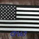 """REFLECTIVE U.S. FLAG for Biker Motorcycle Vest Jacket Back Patches 10"""""""