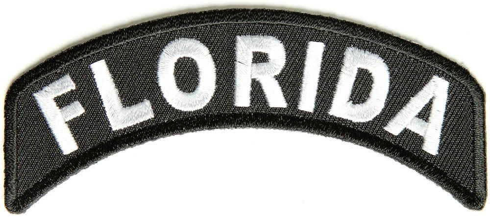 Florida State Rocker Patch Sml Embroidered Motorcycle Biker Vest Patch SR712
