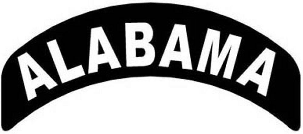 Alabama Rocker Patch Small Embroidered Motorcycle NEW Biker Vest Patch