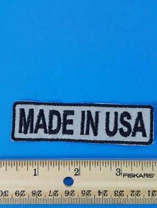 Made In USA Patch Motorcycle Reflective Patches for Jacket vest Night Visiblity