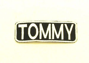 TOMMY Name Tag Patch Iron on or sew on for Shirt Jacket Vest New Name Patches