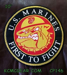 U.S. MARINES FIRST TO FIGHT for Biker Motorcycles Vests Jackets Back Patches 10""