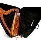 31 Inch Tall Celtic Irish Knee Harp 19 Strings Solid Wood Free Bag Strings Key