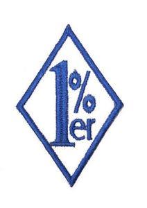 One percent diamond outlaw mc club patch blue