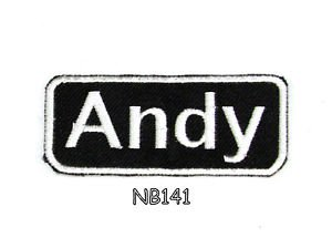 ANDY Name Tag Patch Iron or sew on for Shirt Jacket Vest New BIKER Patches 145