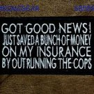 Got Good News White on Black Small Badge for Biker Vest Motorcycle Patch