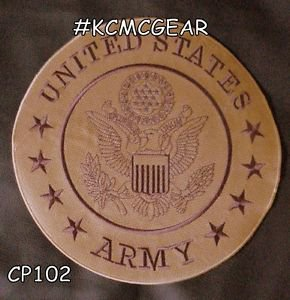"""UNITED STATES ARMY Biker Motorcycle Vest Jacket Military Back Rocker Patches 10"""""""