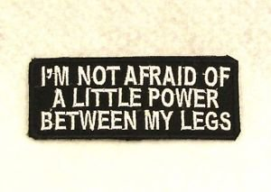 I'M NOT AFRAID OF Small Badge for Biker Vest Jacket Motorcycle Patch