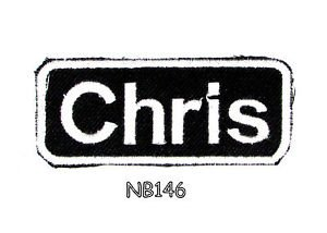 CHRIS Name Tag Patch Iron or sew on for Shirt Jacket Vest New BIKER Patches