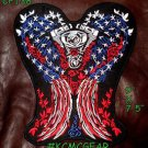 """US FLAG ANGEL WINGS for Biker Motorcycle Vests Jackets Military Back Patches 10"""""""