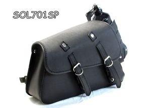 Motorcycle Black Leather Swingman side Bag for Harley Sportster XL883L SuperLow