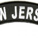 New Jersey State Rocker Patch Sml Embroidered Motorcycle Biker Vest Patch SR733