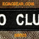 No Club White on Black Small Badge for Biker Vest Jacket Motorcycle Patch