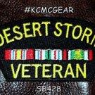 DESERT STORM VETERAN Small Badge for Biker Motorcycle Patch