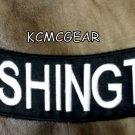 WASHINGTON Bottom Rocker for Biker Motorcycle Vest Jacket Back Patch BR439