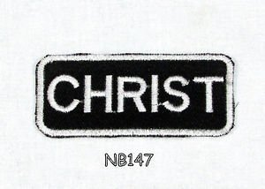 CHRIST Name Tag Patch Iron or sew on for Shirt Jacket Vest New BIKER Patches