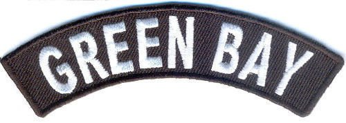 Green Bay City Patch Rocker Embroidered Motorcycle Biker Vest Patches SR767