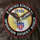 UNITED STATES OPERATION DESERT SHIELD  Biker Motorcycle  Jacket Back Patches 10""