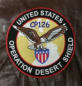 "UNITED STATES OPERATION DESERT SHIELD  Biker Motorcycle  Jacket Back Patches 10"""