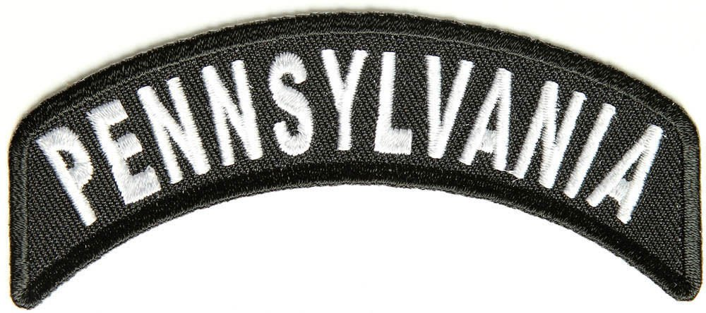 Pennsylvania State Rocker Patch Sml Embroidered Motorcycle Biker Vest Patch 741