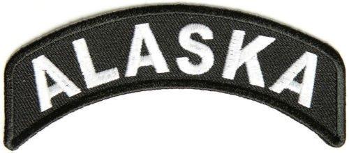 Alaska Rocker Patch Small Embroidered Motorcycle NEW Biker Vest Patch