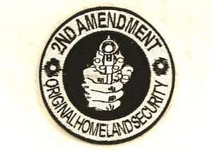 2nd amendment original homeland security Small Badge Biker Vest Motorcycle Patch