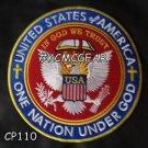 "UNITED STATES ONE NATION UNDER GOD Biker Motorcycle Vest Jacket Back Patches 10"""