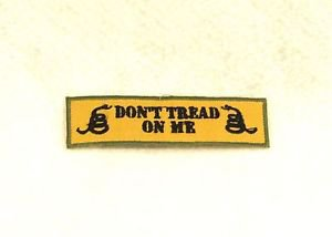 Don�t tread on me black and green on tan Small Badge Biker Vest Motorcycle Patch