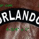 Embroidered Orlando Top Rocker Small Biker Patches for sleeve