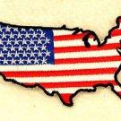 USA Boarder Flag Small Badge for Biker Vest Jacket Patch SB730