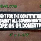 Fight for the Constitution Small Badge for Biker Vest Jacket Motorcycle Patch
