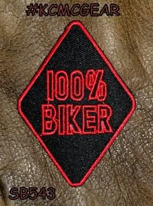 100% Biker Small Badge for Biker Vest Jacket Motorcycle Patch