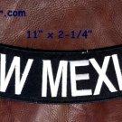 """NEW MEXICO White on Black Back Patch Bottom Rocker for Biker Veteran Vest 10"""""""