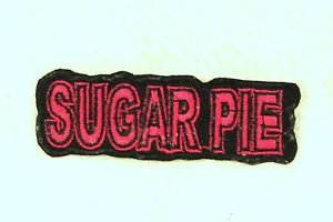 SUGAR PIE Red on Black Small Badge for Biker Vest Motorcycle Patch