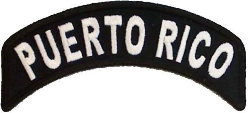 Puerto Rico Rocker Patch Small Embroidered Motorcycle NEW Biker Vest Patch