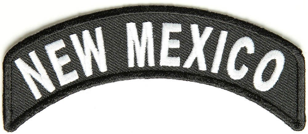 New Mexico State Rocker Patch Sml Embroidered Motorcycle Biker Vest Patch SR734