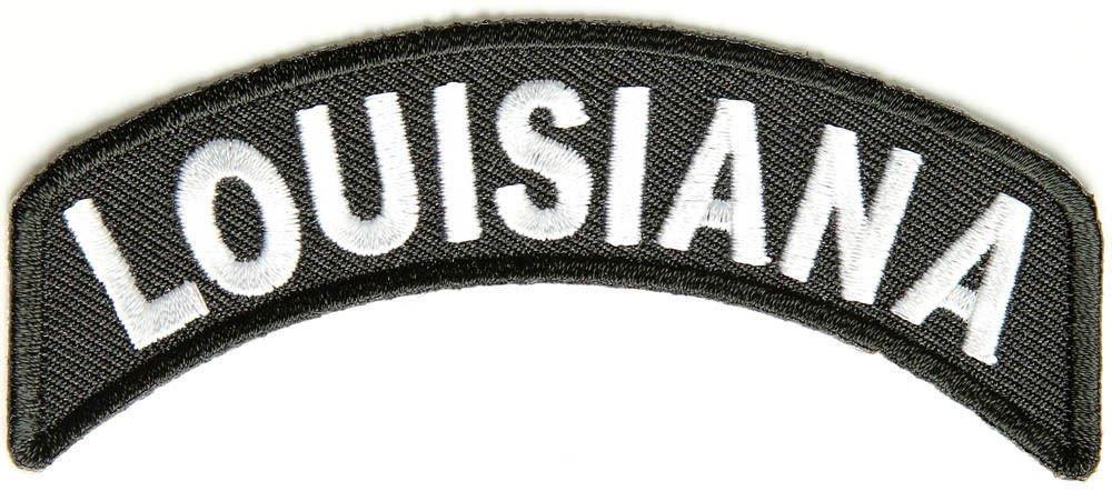 Louisiana State Rocker Patch Sml Embroidered Motorcycle Biker Vest Patch SR721