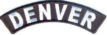 Denver City Patch Rocker Sml Embroidered Motorcycle Biker Vest Patches SR764