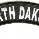 North Dakota State Rocker Patch Sml Embroidered Motorcycle Biker Vest Patch 737