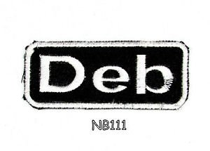 DEB Name Tag Patch Iron or sew on for Shirt Jacket Vest New BIKER Patches