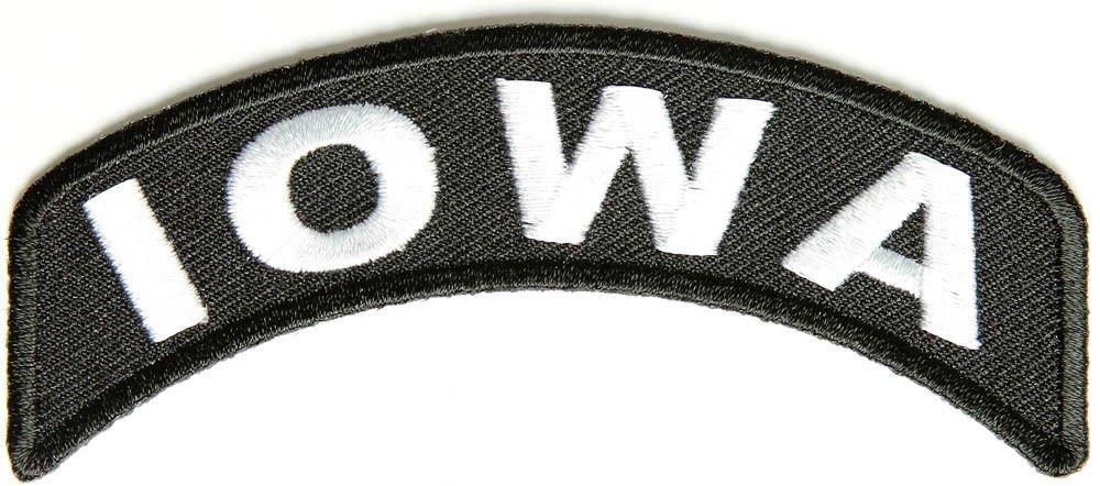 Iowa State Rocker Patch Sml Embroidered Motorcycle Biker Vest Patch SR718