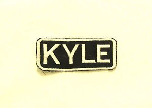 KYLE Name Tag Patch Iron on or sew on for Shirt Jacket Vest New Name Patches