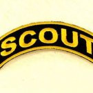 Scout Yellow on Black Small Badge for Biker Vest Jacket Patch SB743